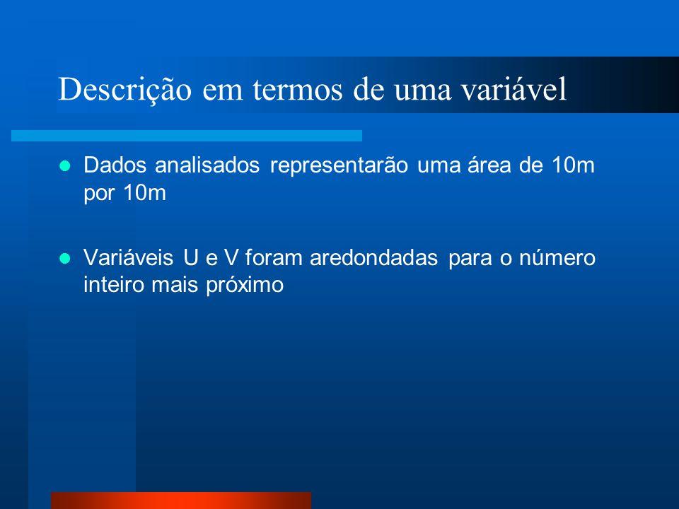 Descrição em termos de uma variável