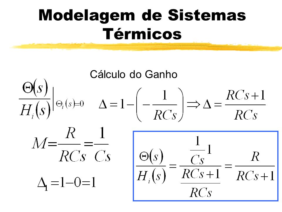 Modelagem de Sistemas Térmicos