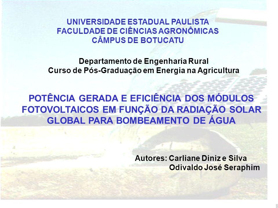 UNIVERSIDADE ESTADUAL PAULISTA FACULDADE DE CIÊNCIAS AGRONÔMICAS CÂMPUS DE BOTUCATU