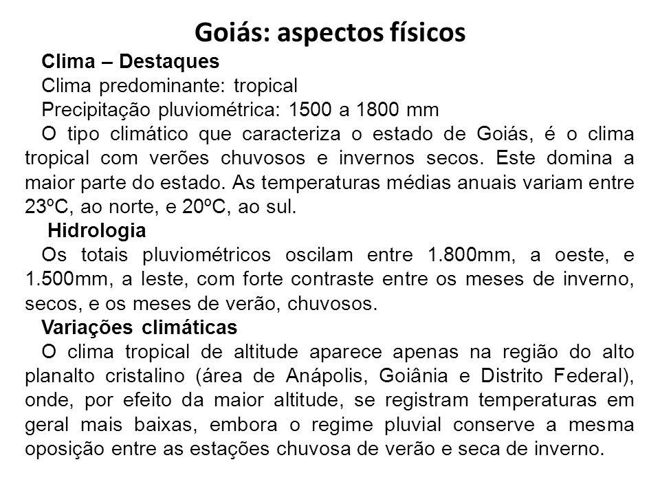 Goiás: aspectos físicos