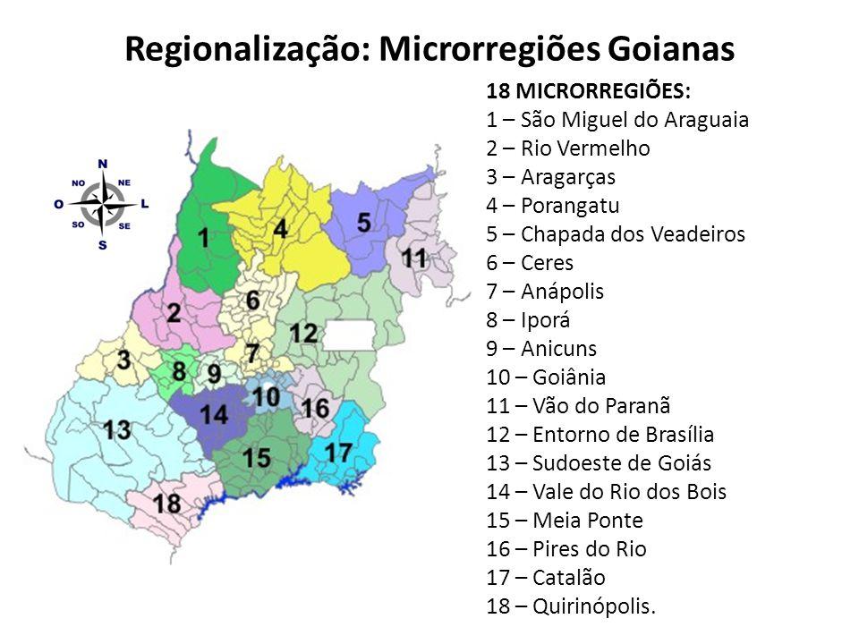Regionalização: Microrregiões Goianas