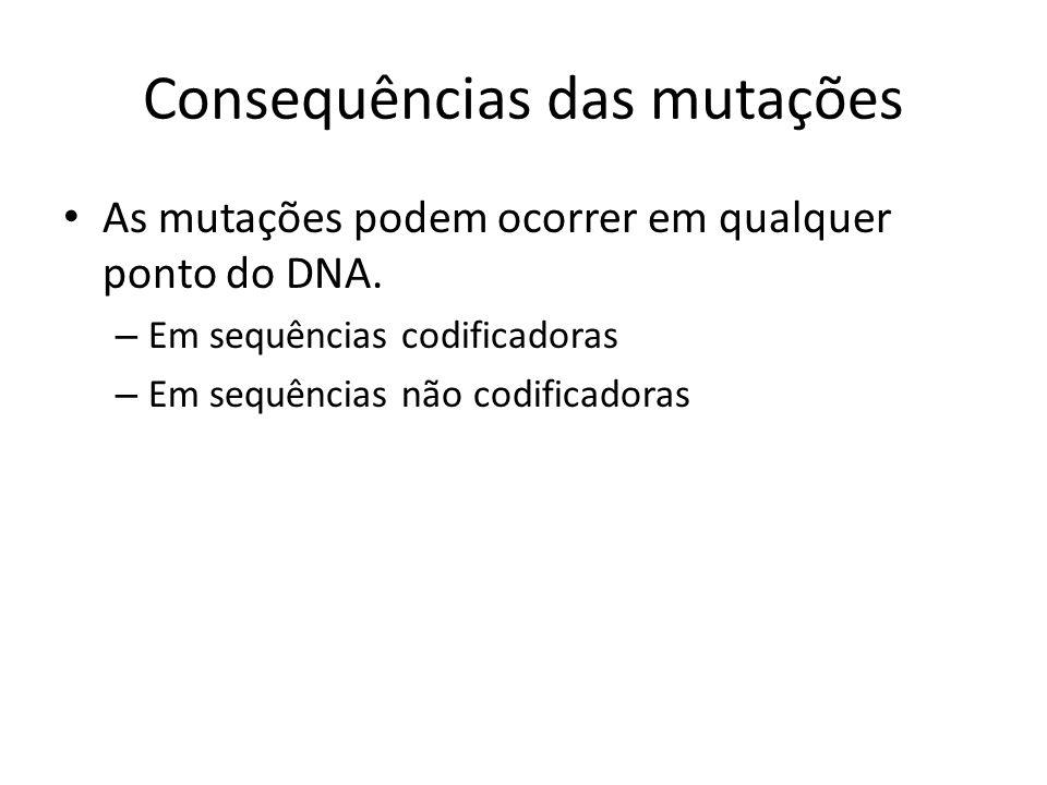 Consequências das mutações