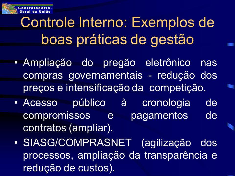 Controle Interno: Exemplos de boas práticas de gestão