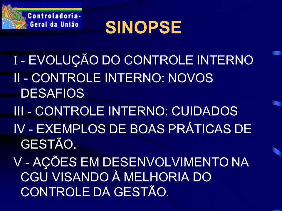 SINOPSE I - EVOLUÇÃO DO CONTROLE INTERNO