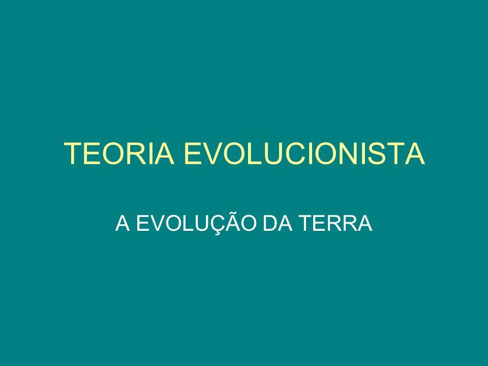 TEORIA EVOLUCIONISTA A EVOLUÇÃO DA TERRA