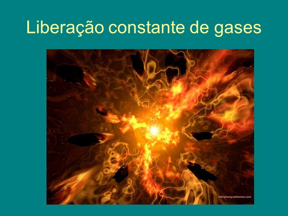 Liberação constante de gases