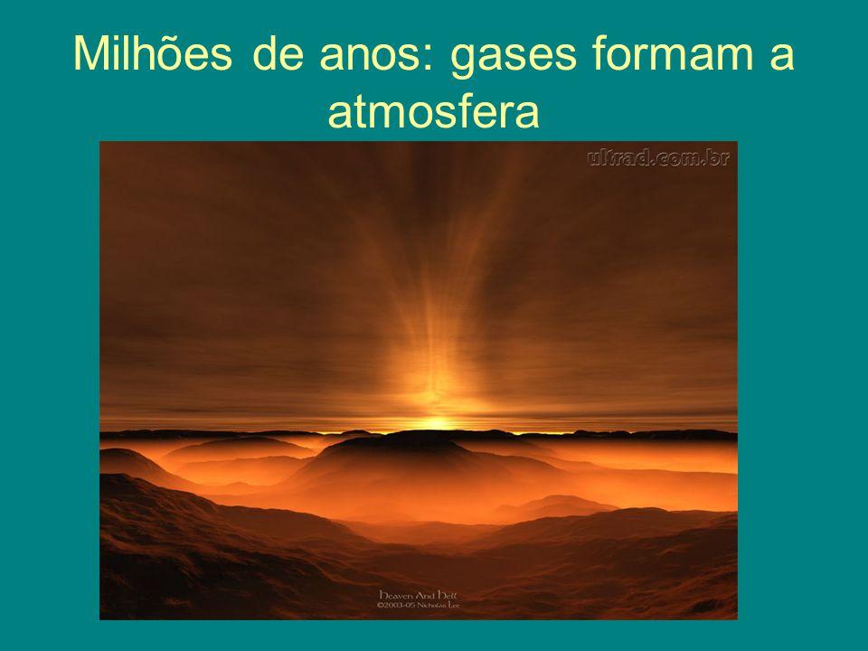 Milhões de anos: gases formam a atmosfera