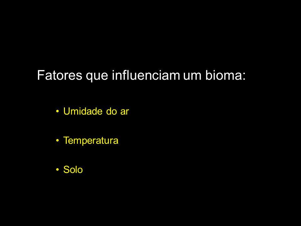 Fatores que influenciam um bioma: