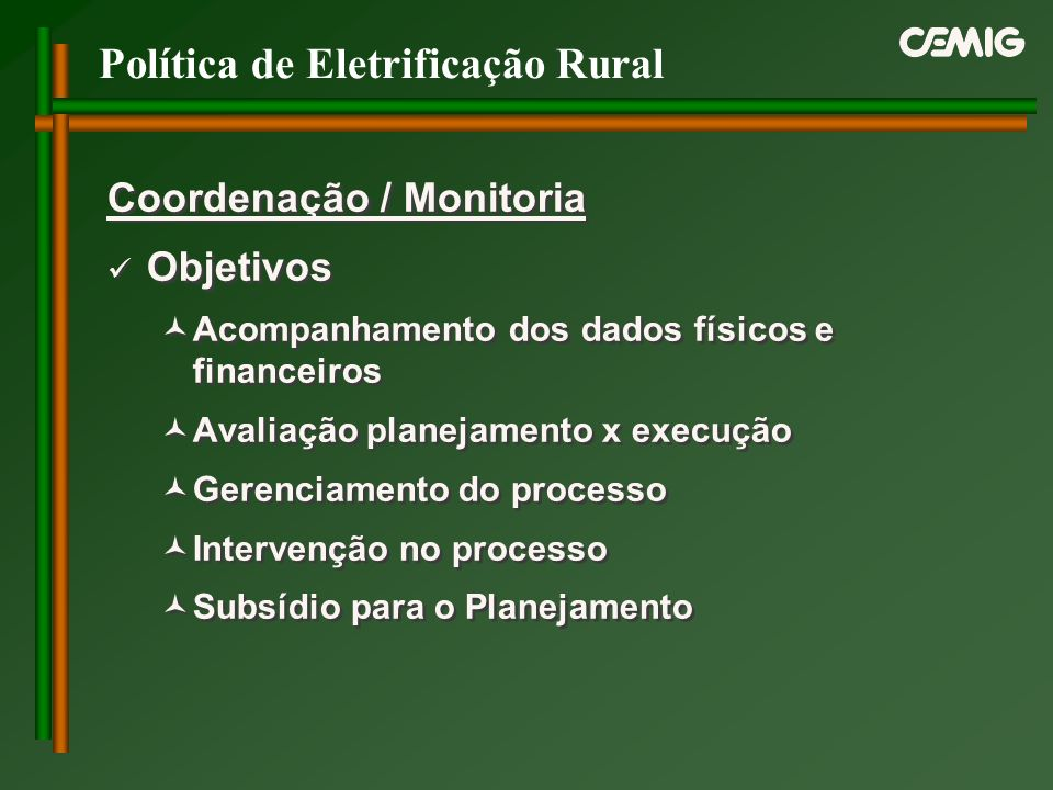 Política de Eletrificação Rural