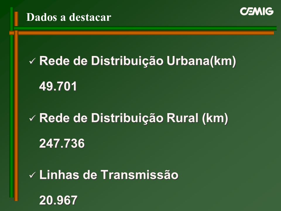 Rede de Distribuição Urbana(km) 49.701