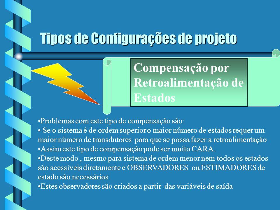 Tipos de Configurações de projeto