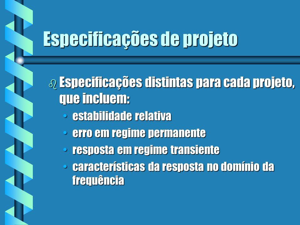 Especificações de projeto