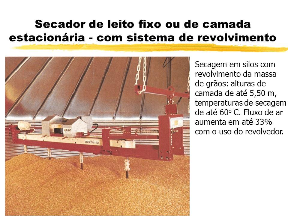 Secador de leito fixo ou de camada estacionária - com sistema de revolvimento