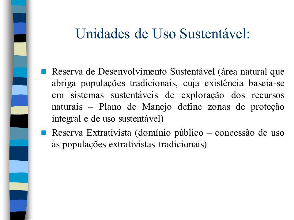 Unidades de Uso Sustentável: