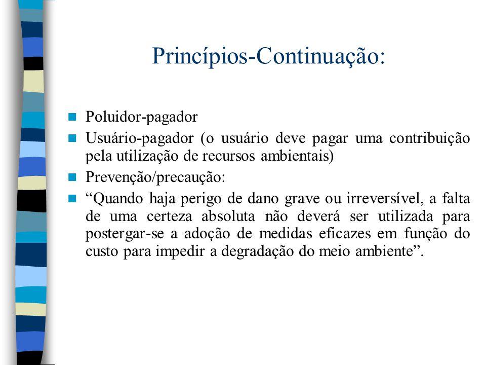 Princípios-Continuação: