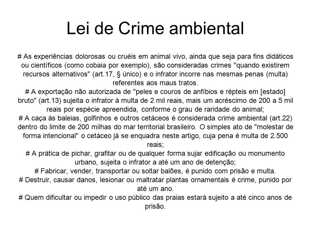 Lei de Crime ambiental