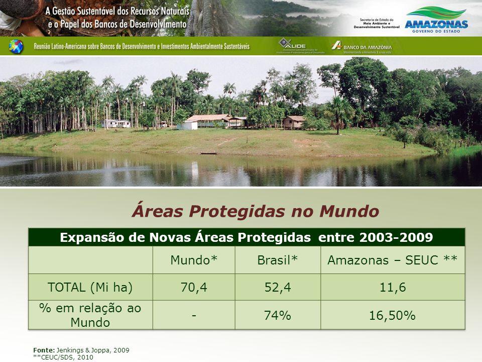 Expansão de Novas Áreas Protegidas entre 2003-2009