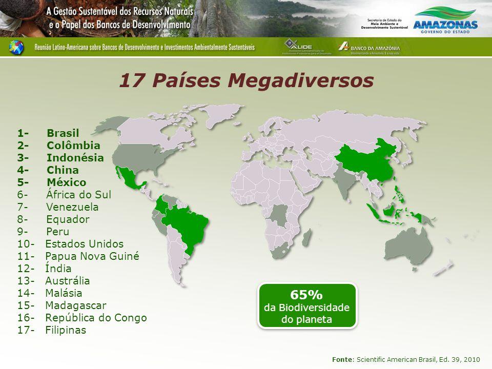 65% da Biodiversidade do planeta