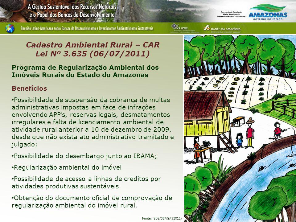 Cadastro Ambiental Rural – CAR Lei Nº 3.635 (06/07/2011)