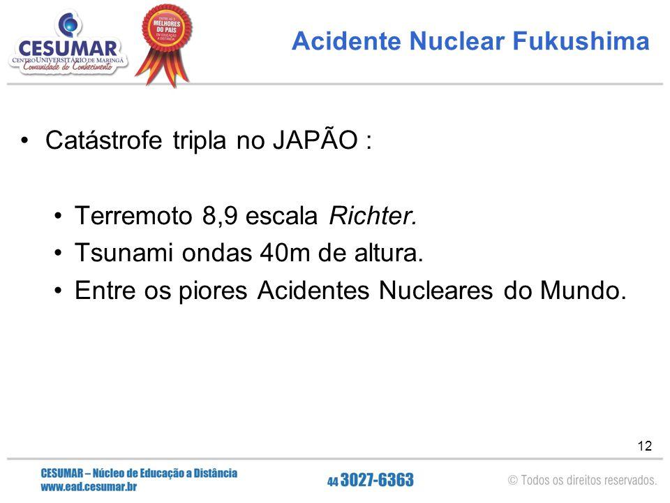 Acidente Nuclear Fukushima