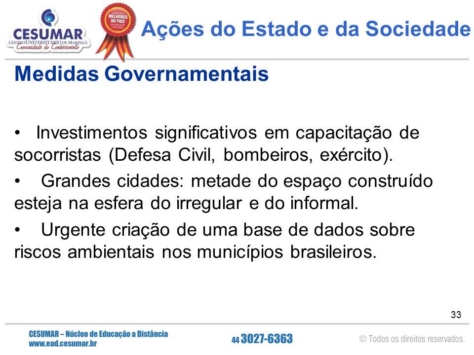 Ações do Estado e da Sociedade