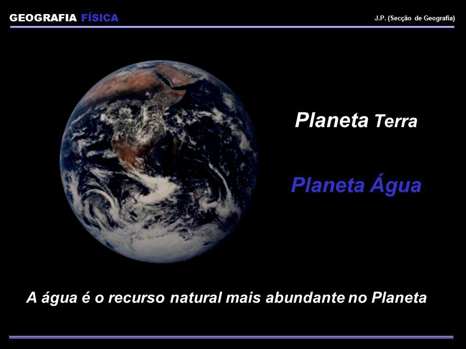 A água é o recurso natural mais abundante no Planeta