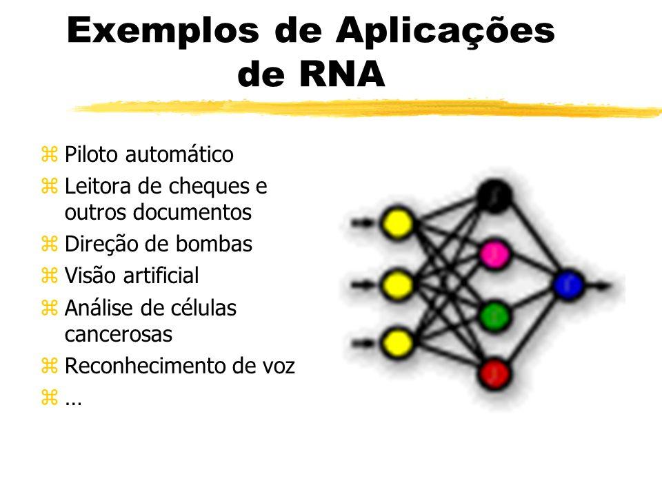 Exemplos de Aplicações de RNA