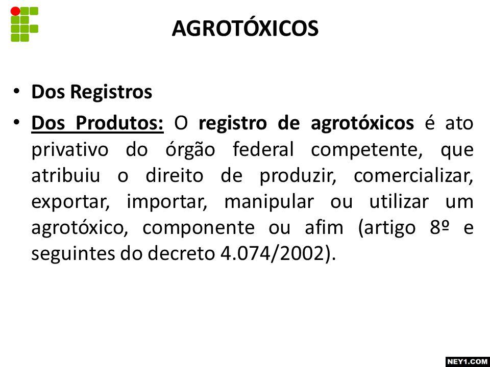 AGROTÓXICOS Dos Registros