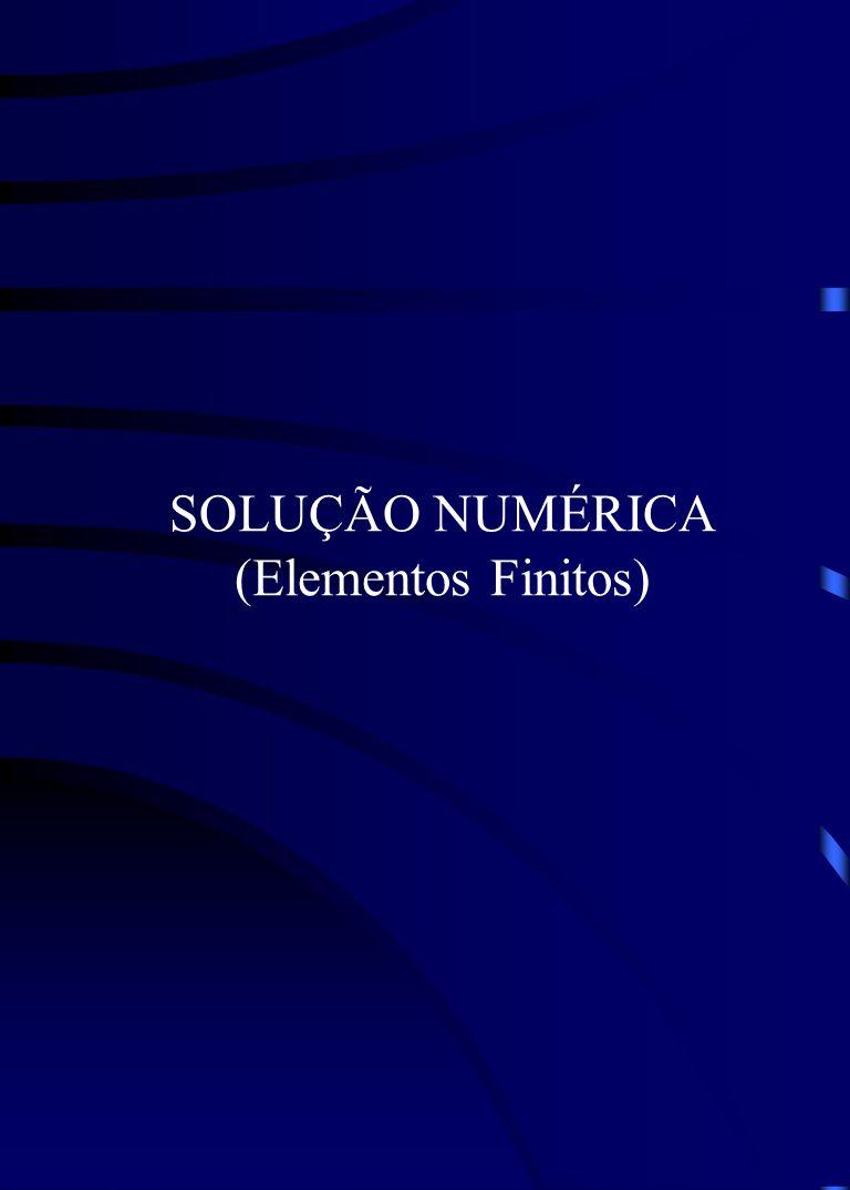 SOLUÇÃO NUMÉRICA (Elementos Finitos)