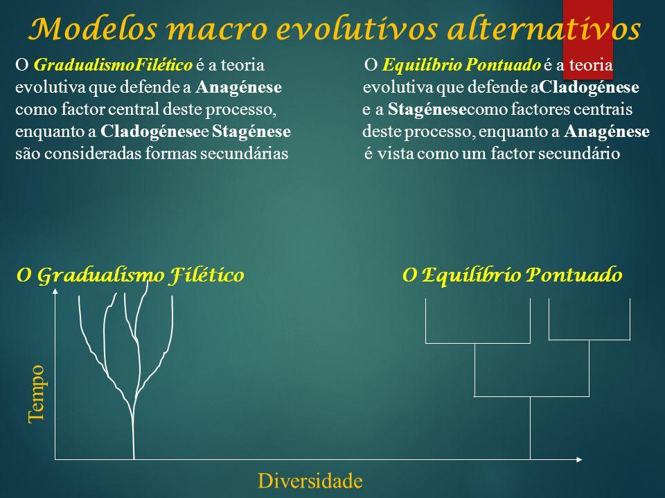 Modelos macro evolutivos alternativos