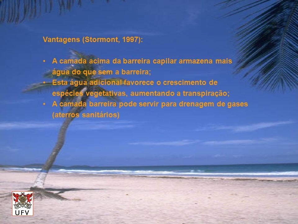 Vantagens (Stormont, 1997):