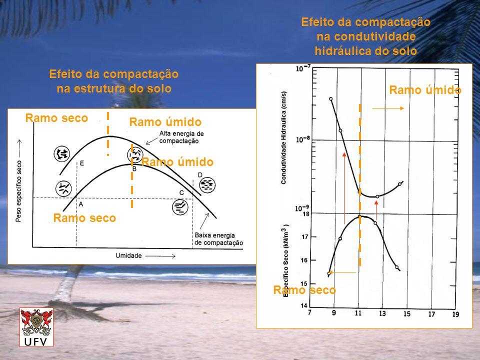 Efeito da compactação na condutividade hidráulica do solo