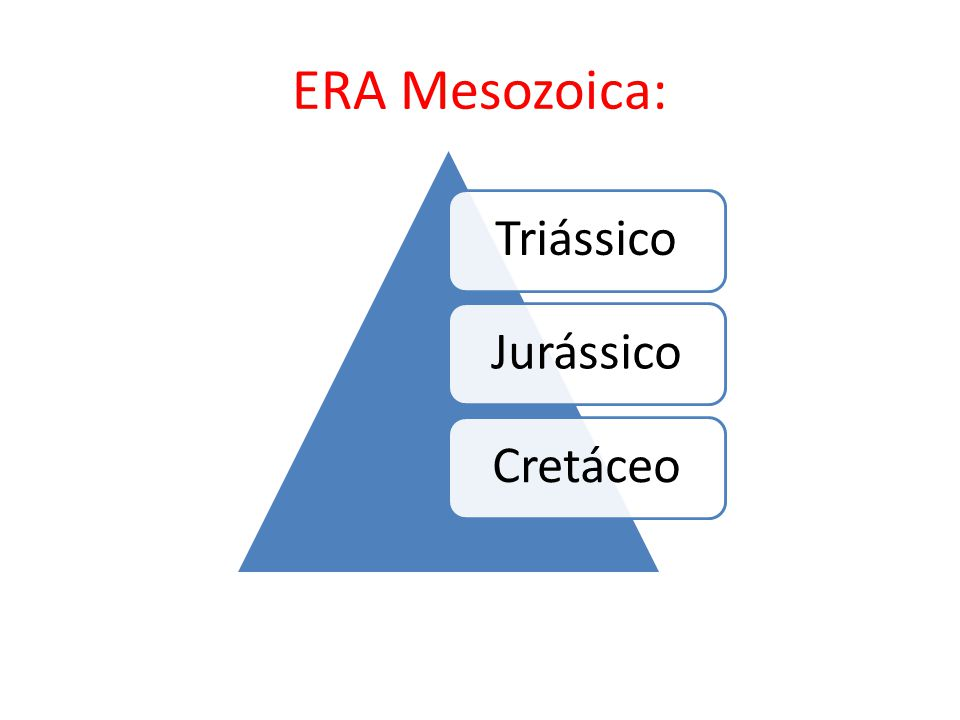 ERA Mesozoica: Triássico Jurássico Cretáceo