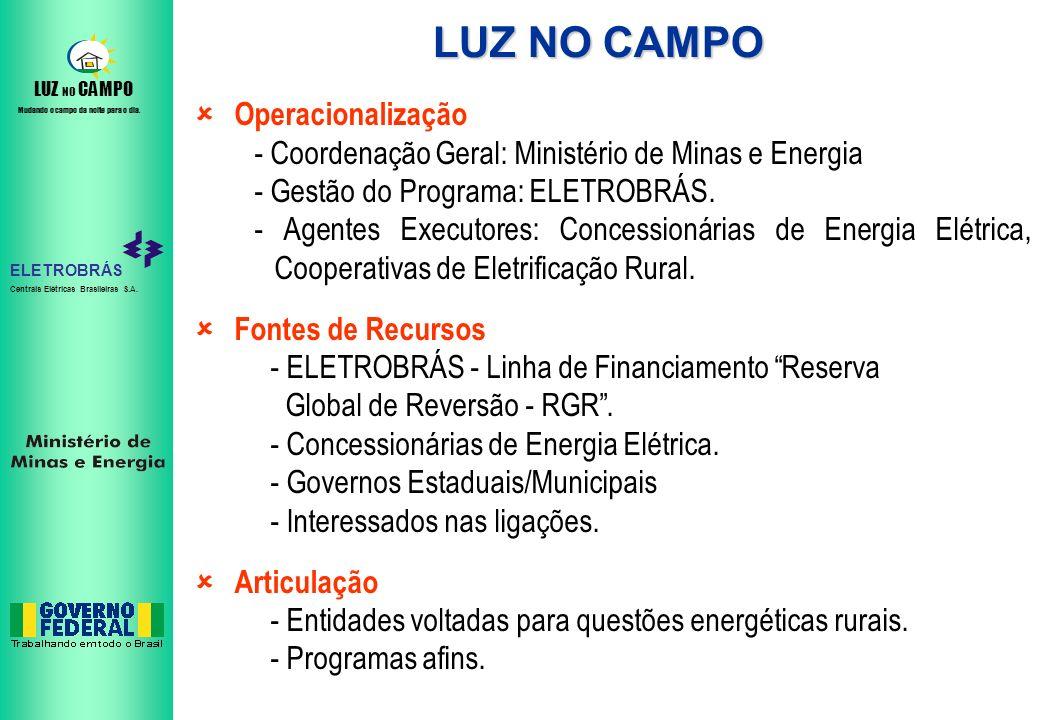LUZ NO CAMPO Operacionalização