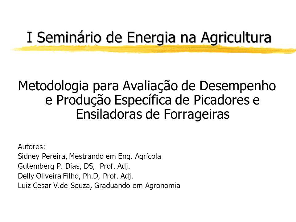 I Seminário de Energia na Agricultura
