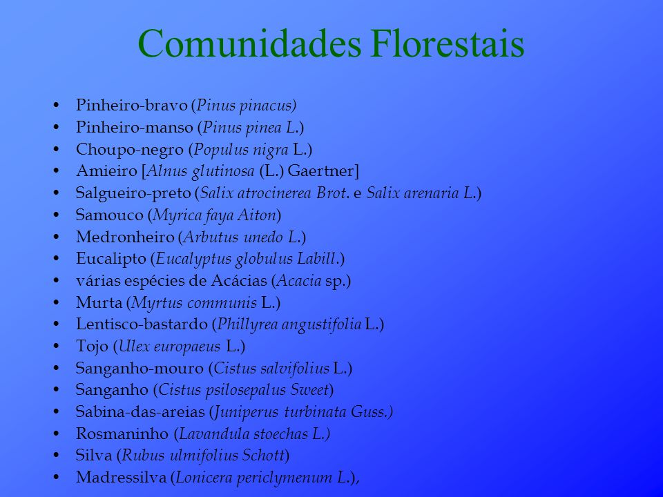 Comunidades Florestais