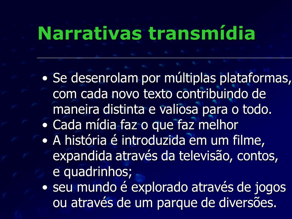 Narrativas transmídia