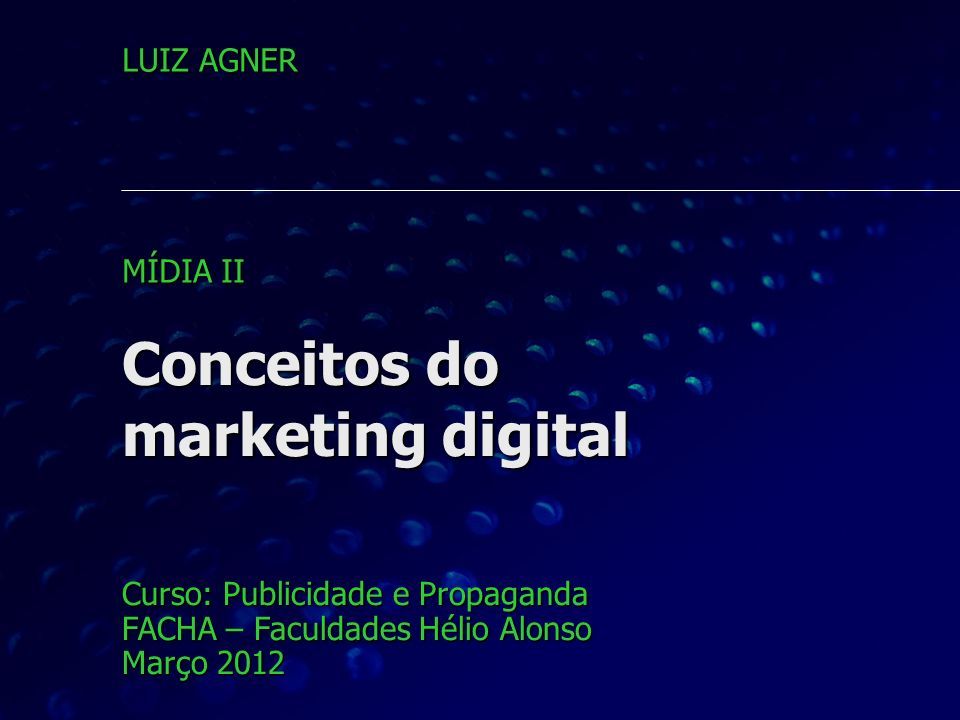 Conceitos do marketing digital