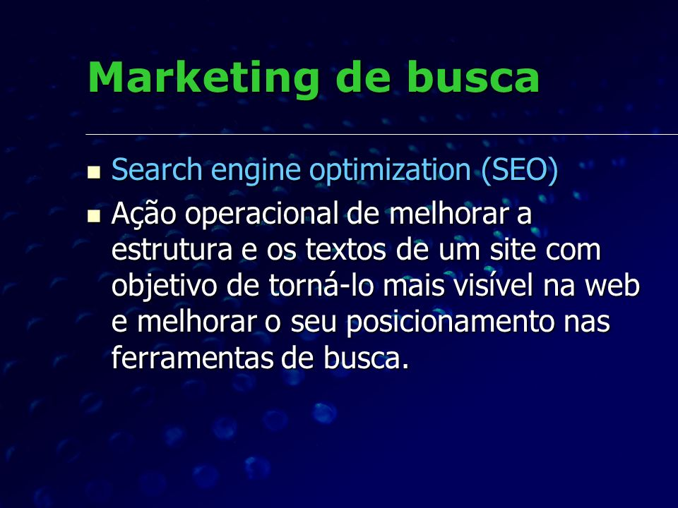 Marketing de busca Search engine optimization (SEO)