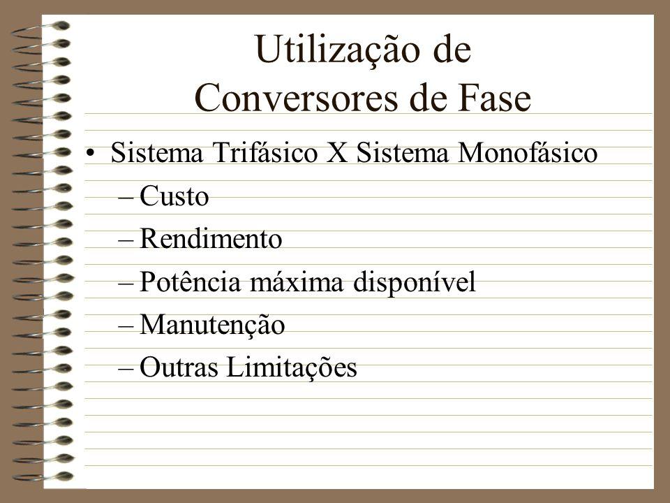 Utilização de Conversores de Fase