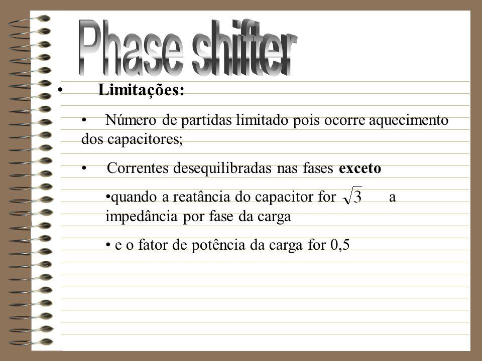 Phase shifter Limitações: