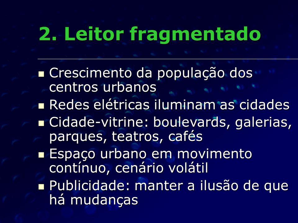 2. Leitor fragmentado Crescimento da população dos centros urbanos