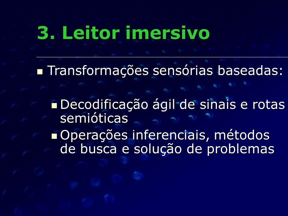 3. Leitor imersivo Transformações sensórias baseadas: