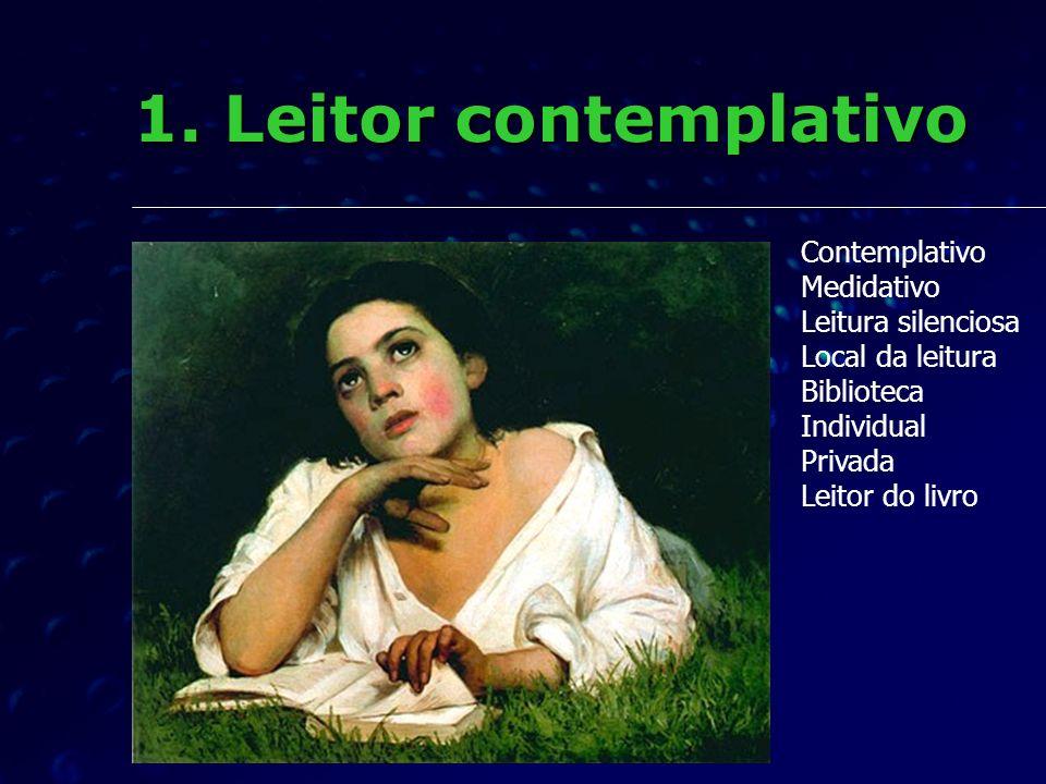 1. Leitor contemplativo Contemplativo Medidativo Leitura silenciosa