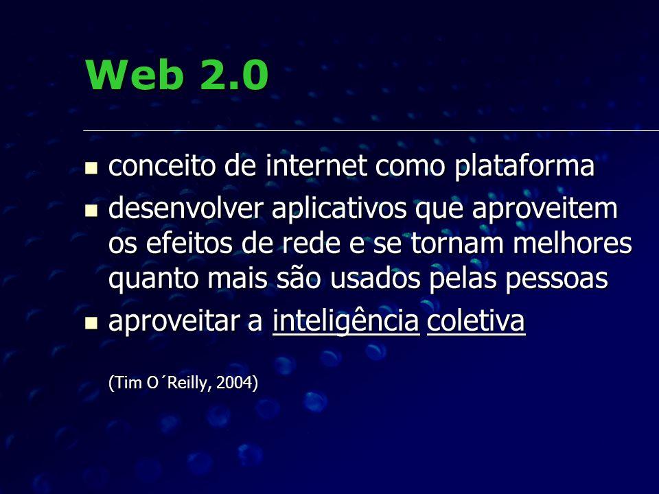 Web 2.0 conceito de internet como plataforma