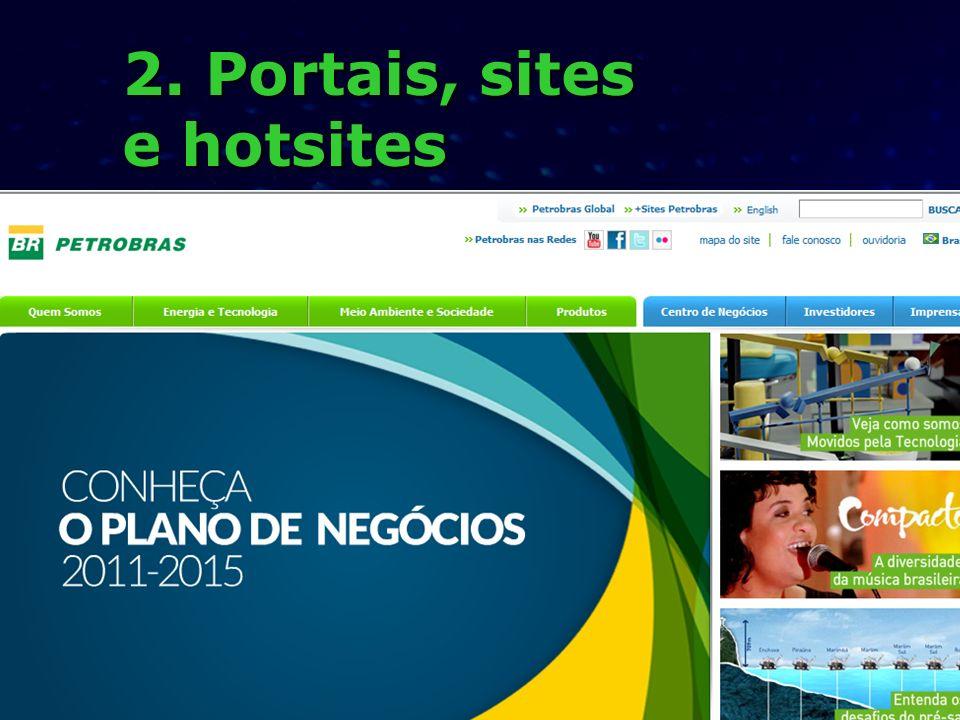 2. Portais, sites e hotsites