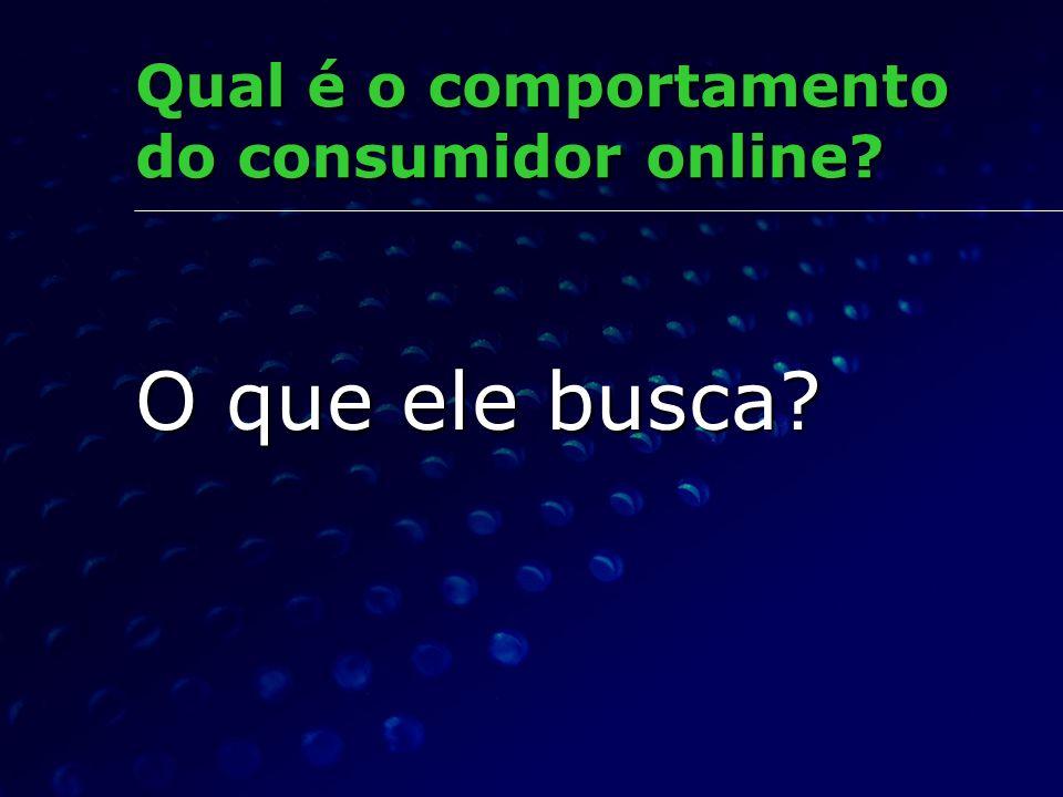 Qual é o comportamento do consumidor online