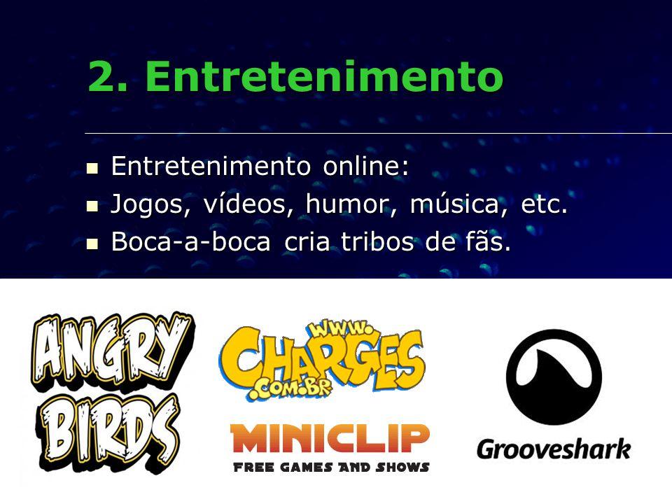 2. Entretenimento Entretenimento online:
