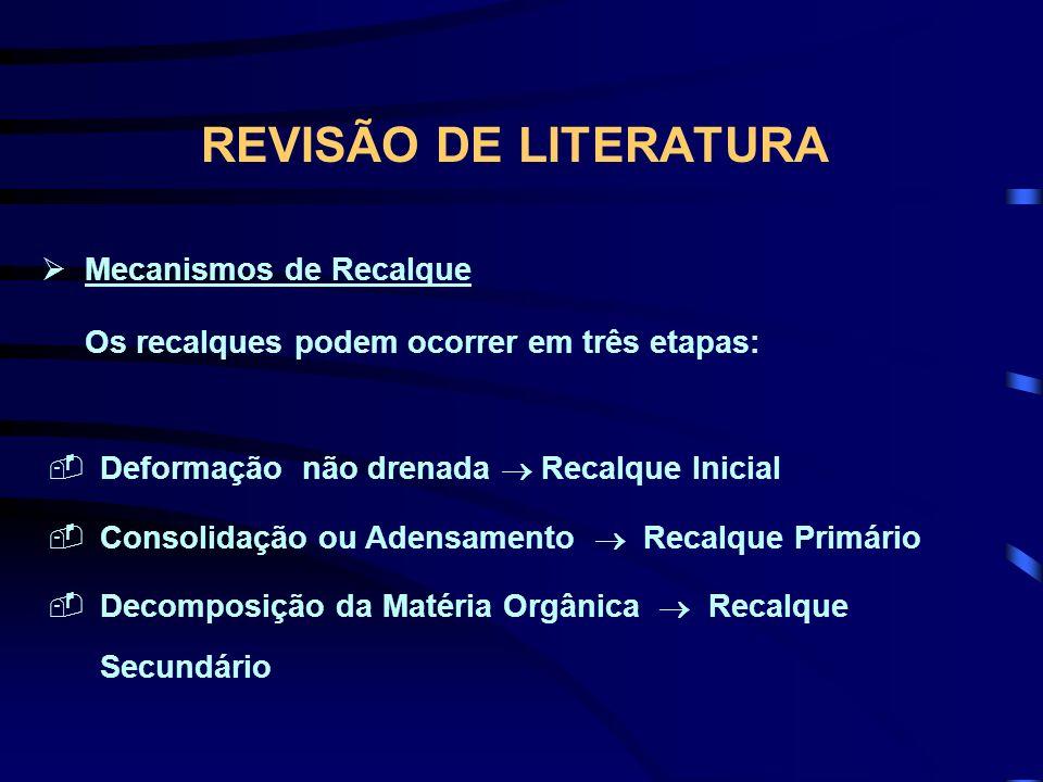 REVISÃO DE LITERATURA Mecanismos de Recalque
