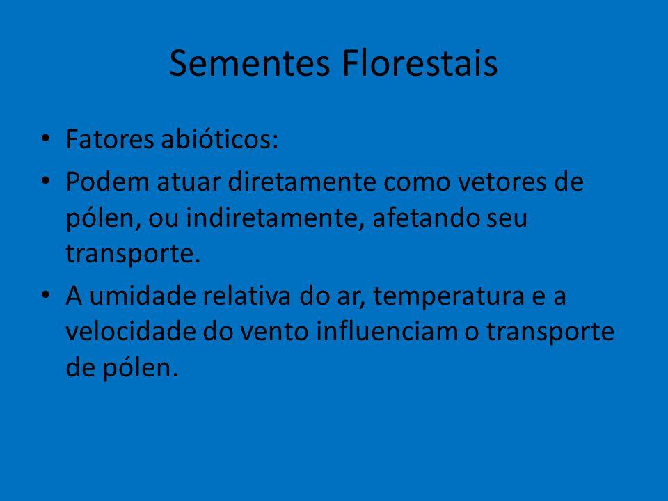 Sementes Florestais Fatores abióticos: